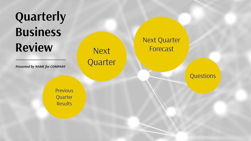 Beautiful Quarterly Business Review   Network